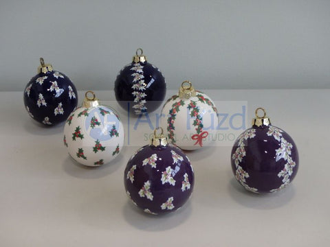 Small Round Holiday Ornament (6 Designs) ~ 2 x 2