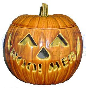 Personalized Small Jack-O-Lantern, includes Light Kit ~ 6.25 x 6.25 x 6.25 ~ One line, up to 8 letters