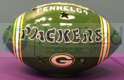 Personalized Football, includes Light Kit ~ 10 x 6 ~ Two lines, up to 8 and 10 letters