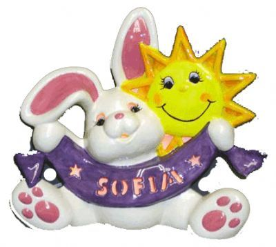 Personalized Bunny with Sunshine, includes Light Kit ~ 13 x 12 ~ One line, up to 8 letters
