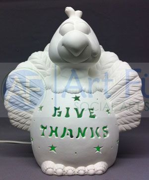 Personalized Turkey, includes Light Kit ~ 12 x 13 ~ Two lines, up to 6 and 8 letters