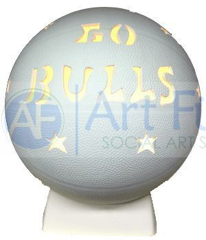 Personalized Basketball, includes Light Kit ~ 8.5 x 10 ~ Two lines, up to 8 and 10 letters