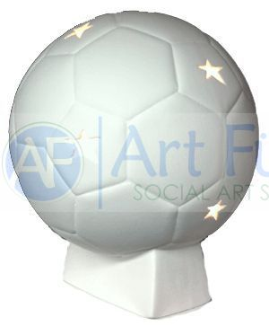 Personalized Soccer Ball, includes Light Kit ~ 8.5 x 10 ~ Two lines, up to 8 and 10 letters