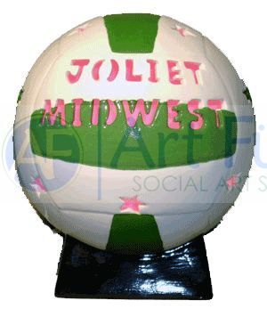 Personalized Volleyball, includes Light Kit ~ 8.5 x 10 ~ Two lines, up to 8 and 10 letters