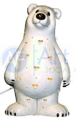 Personalized Polar Bear, includes Light Kit ~ 8 x 13.5 ~ Two lines, up to 3 and 6 letters