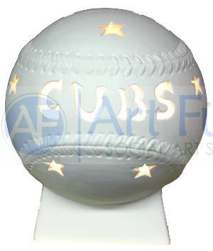 Personalized Baseball, includes Light Kit ~ 7 x 8.5 ~ Two lines, up to 6 and 8 letters