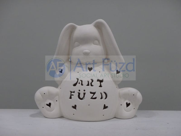 Personalized Large Bunny with Floppy Ears, includes Light Kit ~ 11 x 5 x 10 ~ Two lines, up to 6 and 8 letters