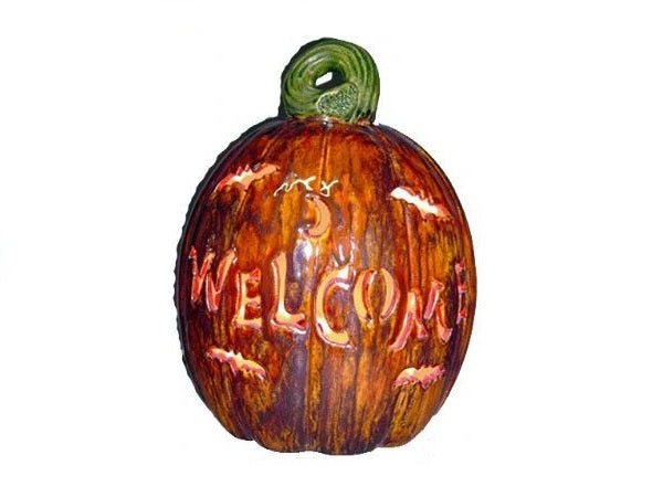 Personalized Small Pumpkin, includes Light Kit ~ 9 x 11 ~ Two lines, up to 8 and 8 letters