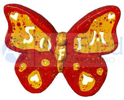 Personalized Butterfly, includes Light Kit ~ 10 x 9 ~ One line, up to 6 letters