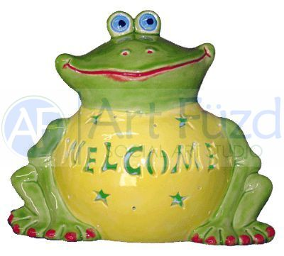 "Personalized ""Philbert"" Frog, includes Light Kit ~ 10 x 8.5 ~ One line, up to 7 letters"