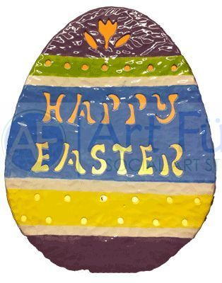 Personalized Small Egg with Tulip Cut-Out and Dots, includes Light Kit ~ 9.5 x 11.75 ~ Two lines, up to 7 and 7 letters