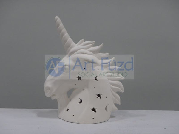 Unicorn Bust with Star Cut-Outs, includes Light Kit ~ 8 x 4 x 9.75
