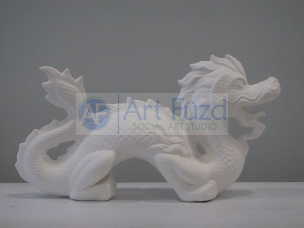 Large Fancy Chinese Dragon Figurine ~ 14 x 4.5 x 8