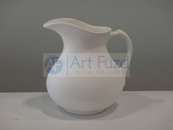 Large Bulbous Water Pitcher ~ 7 x 7 x 7.5