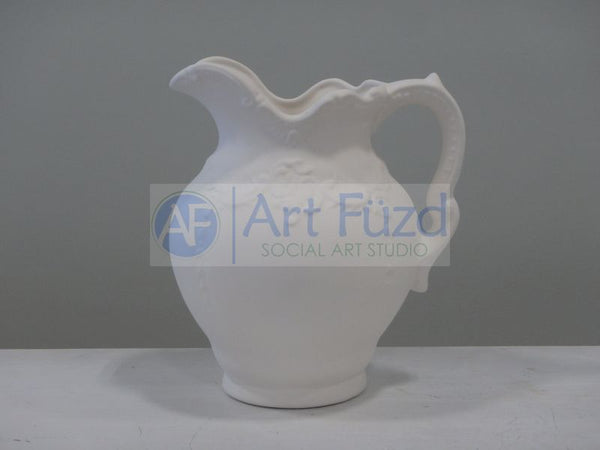 Medium Ornate Pitcher ~ 6.5 x 5 in. dia. x 7.25 in. high