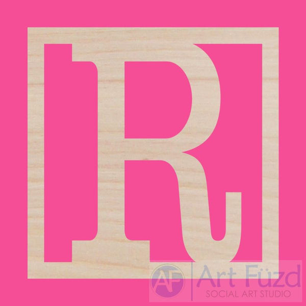 Personalized Classic Square Wood Monogram ~ 18 x 18