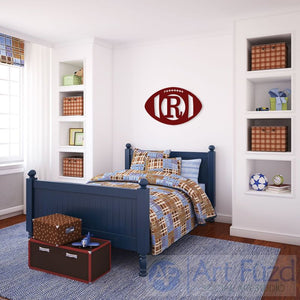 Personalized Football Wood Monogram ~ 27 x 18