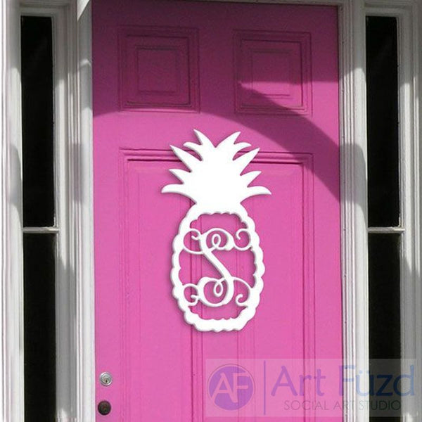Personalized Pineapple Monogram ~ 12 x 22