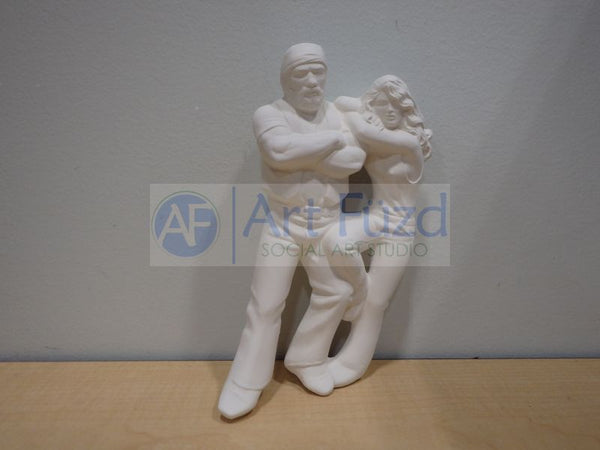 Biker Dude and Babe Figurine ~ 3.75 x 3.75 x 7.25