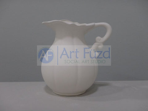 Medium Sectioned Pitcher with Dual Curl Handle ~ 6 x 4.75 x 6