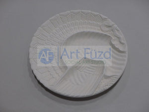 Round Detailed Turkey Platter ~ 11.75 in. dia x 1.25 in. high