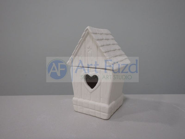 Small Birdhouse Box with Heart Opening ~ 3.5 x 2.75 x 5