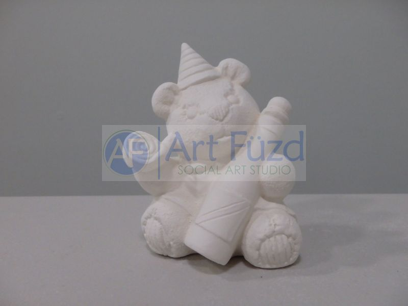 Small Calendar Bear Figurine for month of Janurary ~ 2.75 x 2.5 x 3