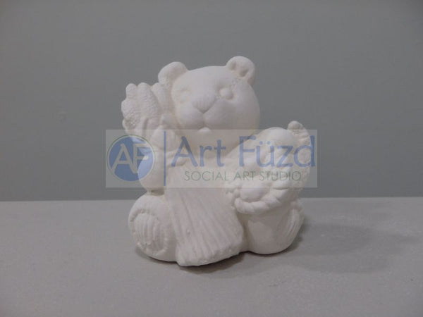 Small Calendar Bear Figurine for month of November ~ 3 x 2.25 x 3