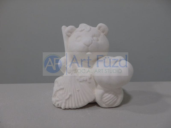 Small Calendar Bear Figurine for month of October ~ 3 x 2.25 x 3