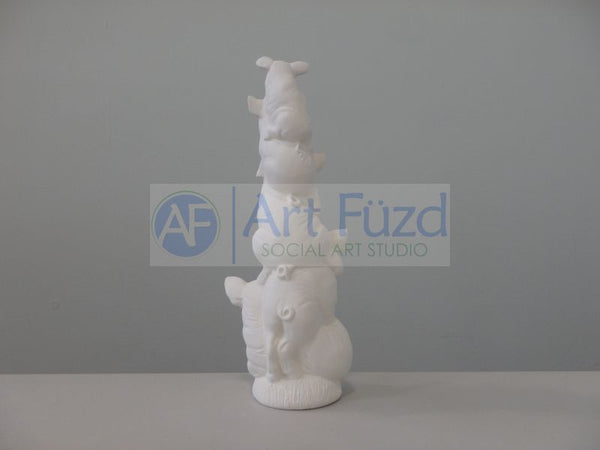 Stack Of Five Happy Pigs Figurine ~ 3.5 x 3 x 9