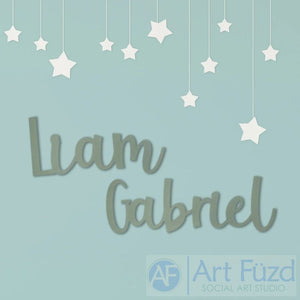 Large Custom First and Middle Name Decor - Playful Font - Up to 60 x 17