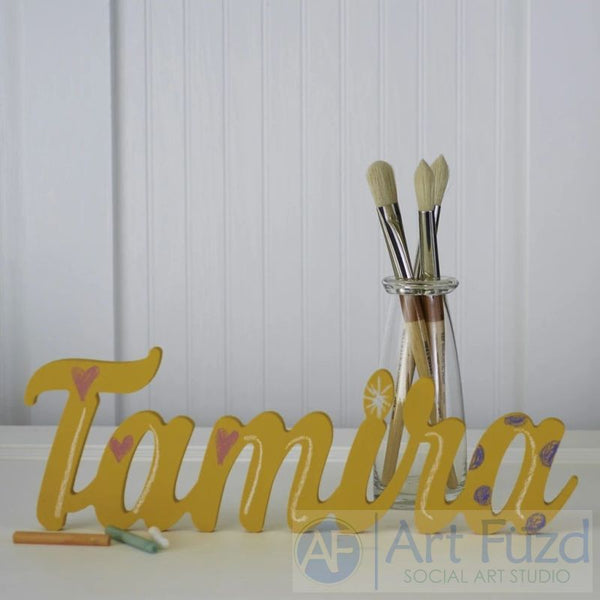 Custom Word or Name ready-to-paint wood sign - Small - 6 in. high