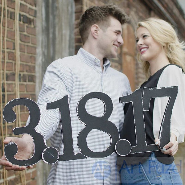 Personalized Date ready to paint wood sign - 25 x 9.5