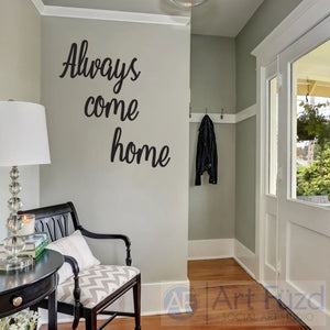 """Always Come Home"" ready-to-paint wood sign - 3 pc. set"