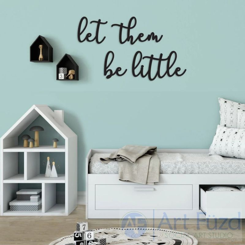 """Let Them Be Little"" ready-to-paint wood sign - 4 pc. set"
