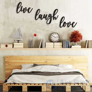 """Live Laugh Love"" ready-to-paint wood sign - 3 pc. set"