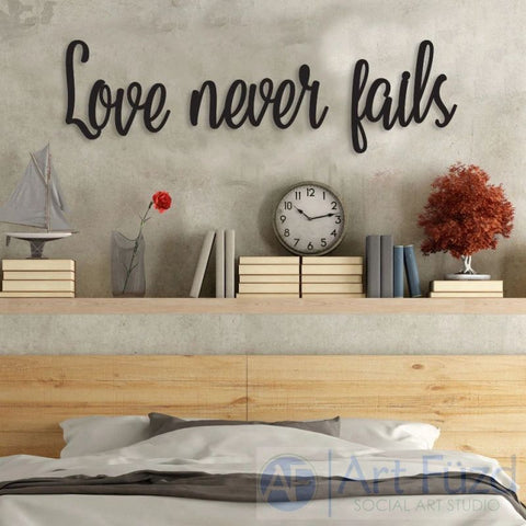 """Love Never Fails"" ready-to-paint wood sign - 3 pc. set"
