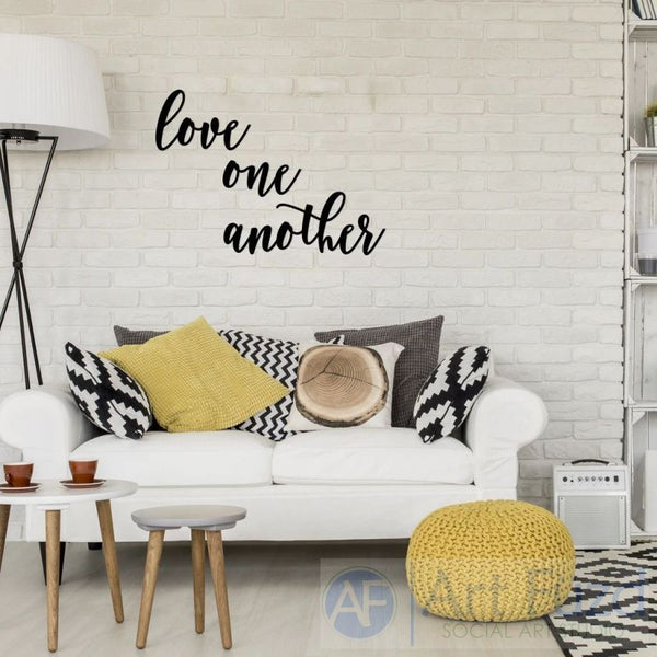 """Love One Another"" ready-to-paint wood sign - 3 pc. set"