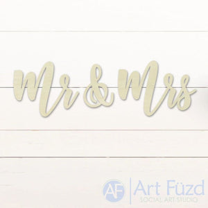 """Mr & Mrs"" ready-to-paint wood sign - 3 pc. set"