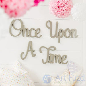 """Once Upon A Time"" ready-to-paint wood sign - 4  pc. set"