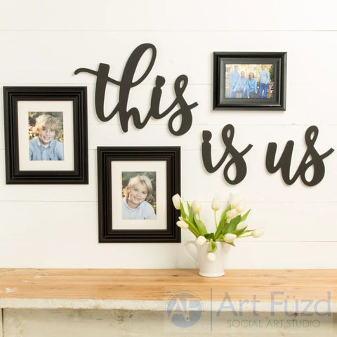 """This Is Us"" ready-to-paint wood sign - 3 pc. set"