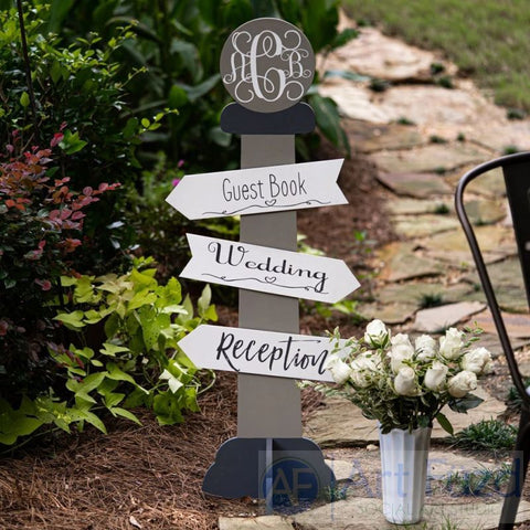Directional Sign Pole ready-to-paint wood project kit - 12 x 42
