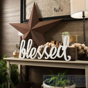 """Blessed"" ready-to-paint wood sign - CHOOSE 18"", 28"", or 34"" wide"