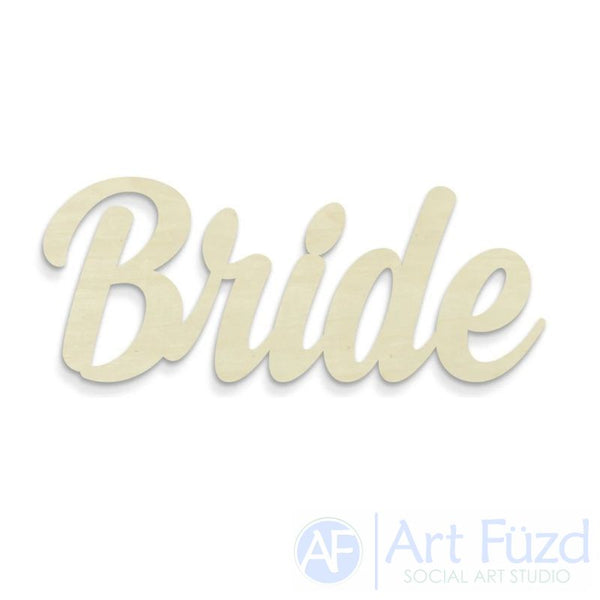 """Bride"" ready-to-paint wood sign - 14.6 x 6"