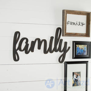 """Family"" ready-to-paint wood sign - CHOOSE 18"", 28"", or 34.5"" wide"