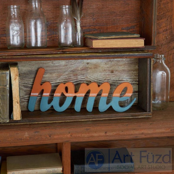 """Home"" ready-to-paint wood sign - 14.25 x 5.75"