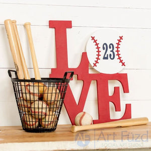 LOVE stacked style canvas ready-to-paint wood sign - 14.5 x 18