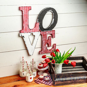 LOVE stacked style ready-to-paint wood sign - 14.5 x 18