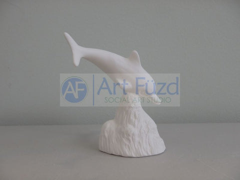 Small Dolphin Swimming Down into Ocean Figurine ~ 2.75 x 2.25 x 3.5