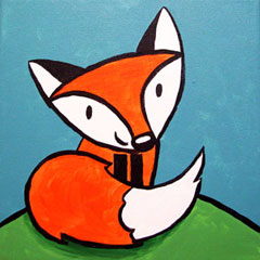 Friendly Fox - 12 x 12